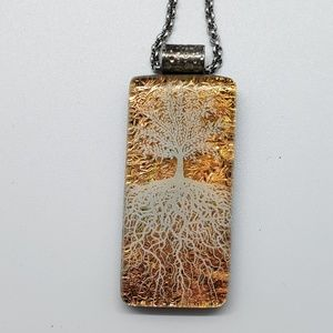 Gold Metallic Tree Root Necklace